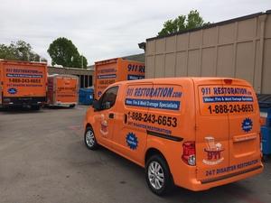 911 Restoration Irwindale Van In parking lot