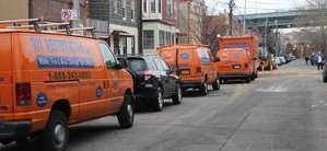 Fleet Of Water and Mold Cleanup Vehicles