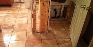 Water Damage Restoration From Bathroom Flood