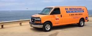 Water and Mold Damage Removal Van